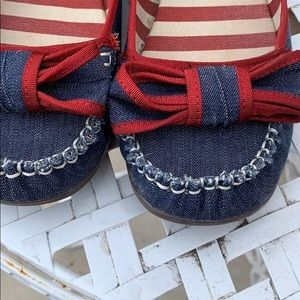 American Eagle Outfitters Shoes - 🆕 Denim Ballet Bow Flats